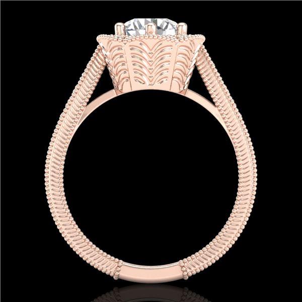 1.33 ctw VS/SI Diamond Solitaire Art Deco Ring 18k Rose Gold - REF-418K2Y