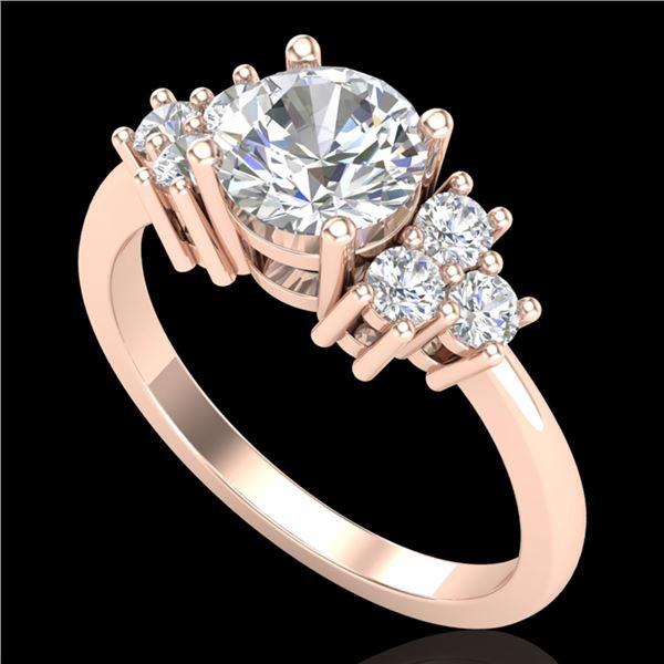 1.5 ctw VS/SI Diamond Solitaire Ring 18k Rose Gold - REF-409K3Y
