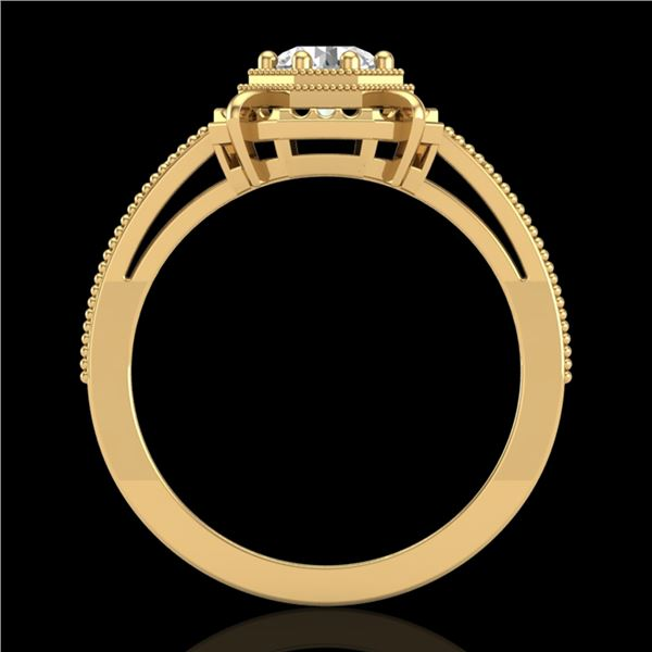 0.53 ctw VS/SI Diamond Art Deco Ring 18k Yellow Gold - REF-136A4N