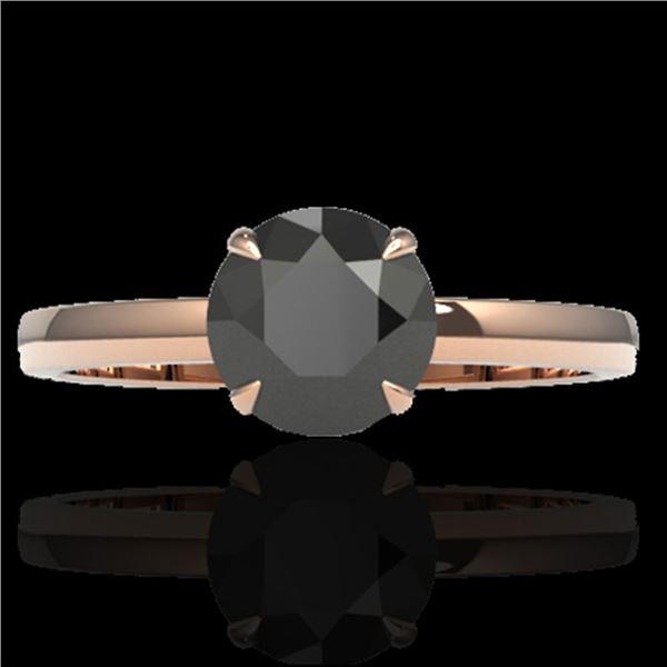 2 ctw Black Diamond Designer Engagment Ring 14k Rose Gold - REF-83W6H