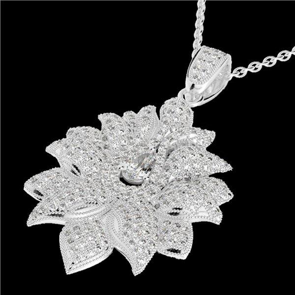 3 ctw Micro Pave VS/SI Diamond Designer Necklace 18k White Gold - REF-429F5M