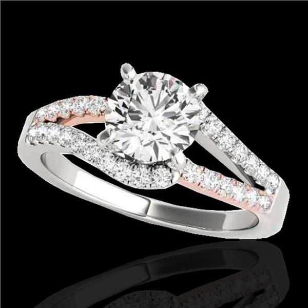 1.4 ctw Certified Diamond Solitaire Ring 10k 2Tone Gold - REF-211M4G
