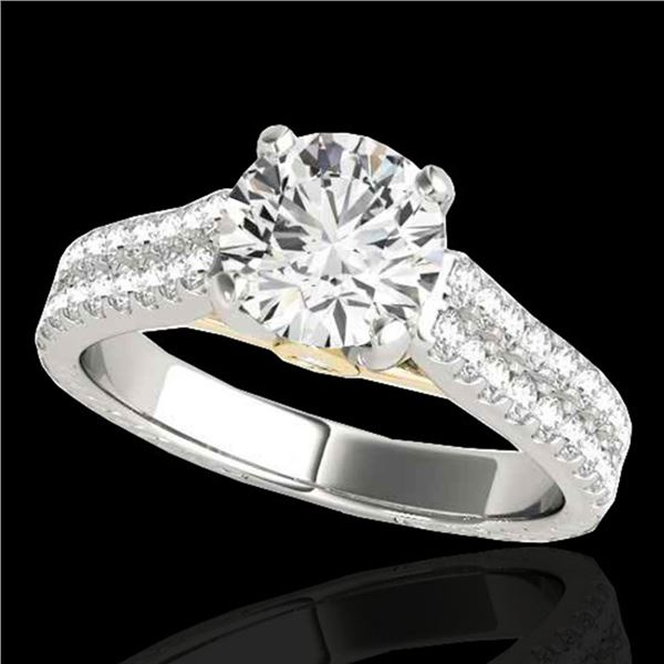 1.61 ctw Certified Diamond Pave Ring 10k 2Tone Gold - REF-204G5W