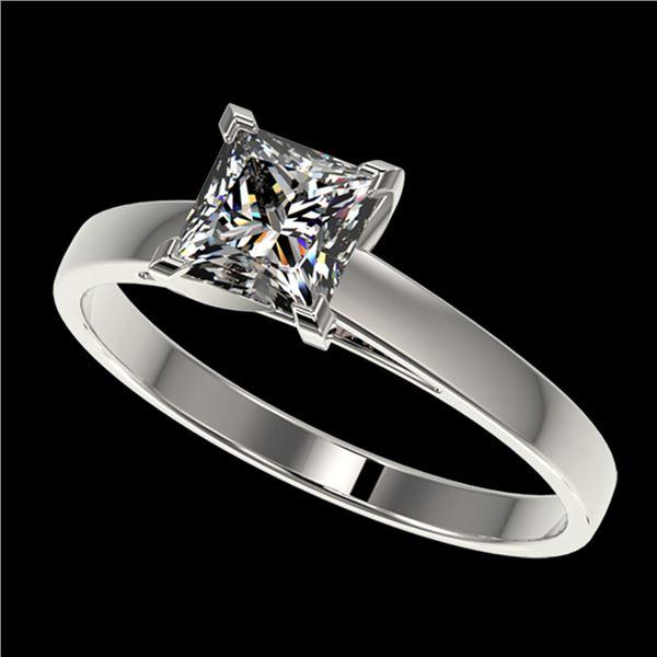 1 ctw VS/SI Quality Princess Diamond Engagment Ring 10k White Gold - REF-243G2W