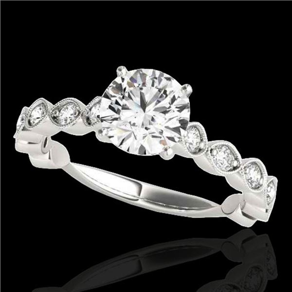 1.5 ctw Certified Diamond Solitaire Ring 10k White Gold - REF-196Y4X