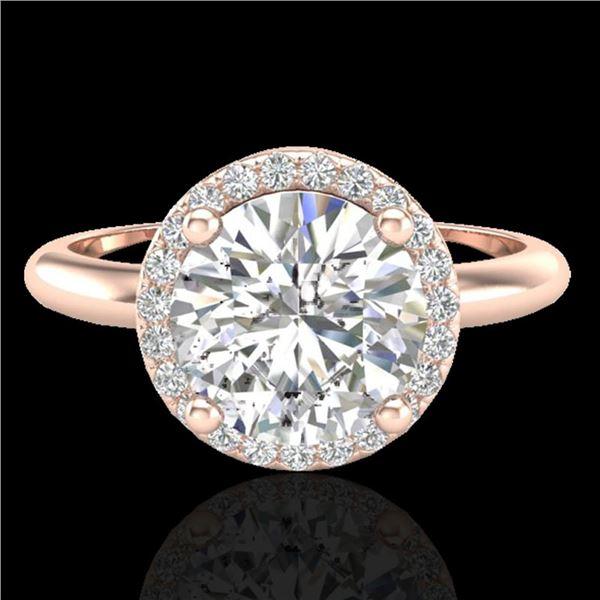 2.20 ctw Micro Pave VS/SI Diamond Ring Designer 14k Rose Gold - REF-834K5Y