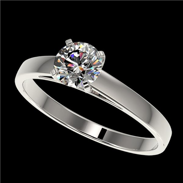 0.73 ctw Certified Quality Diamond Engagment Ring 10k White Gold - REF-68A2N