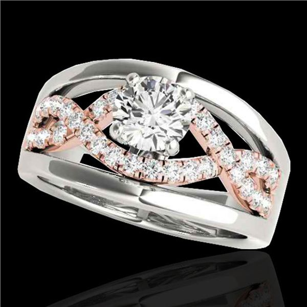 1.55 ctw Certified Diamond Solitaire Ring 10k 2Tone Gold - REF-245F5M