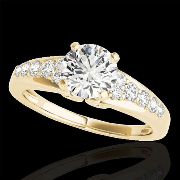 1.40 ctw Certified Diamond Solitaire Ring 10k Yellow Gold - REF-190Y9X