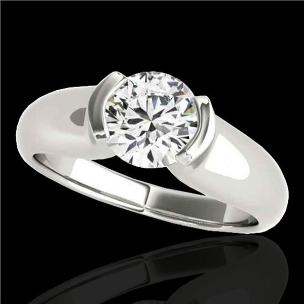 1 ctw Certified Diamond Solitaire Ring 10k White Gold - REF-177F3M