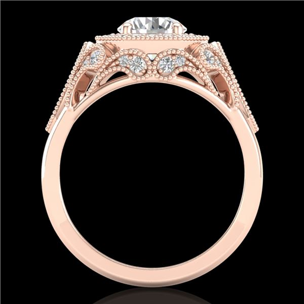 1.75 ctw VS/SI Diamond Solitaire Art Deco Ring 18k Rose Gold - REF-436Y4X