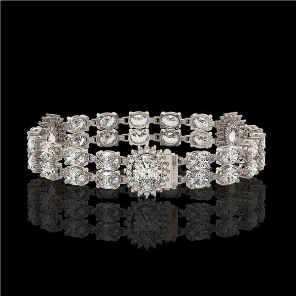 14.86 ctw Rare Oval Diamond Bracelet 18K White Gold - REF-2152K8Y