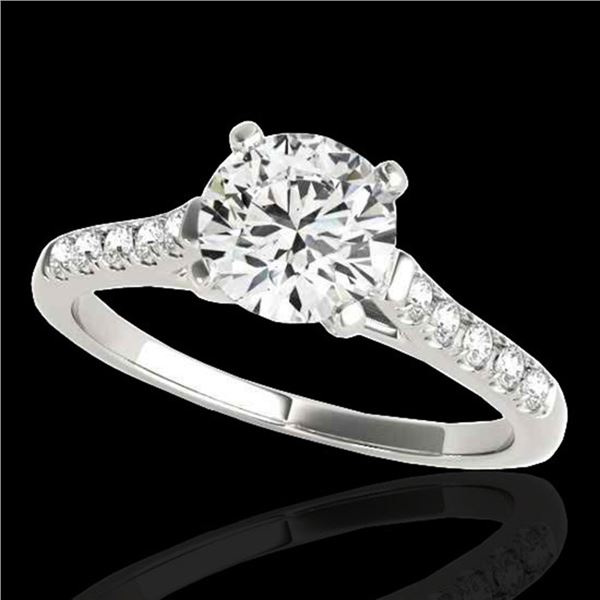 1.45 ctw Certified Diamond Solitaire Ring 10k White Gold - REF-245Y5X