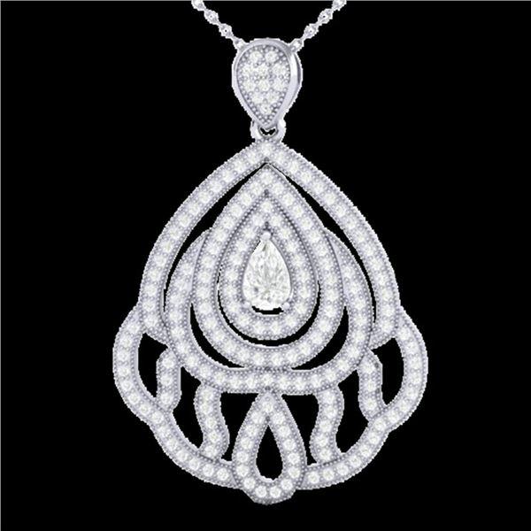 2 ctw Micro Pave VS/SI Diamond Designer Necklace 18k White Gold - REF-345W5H