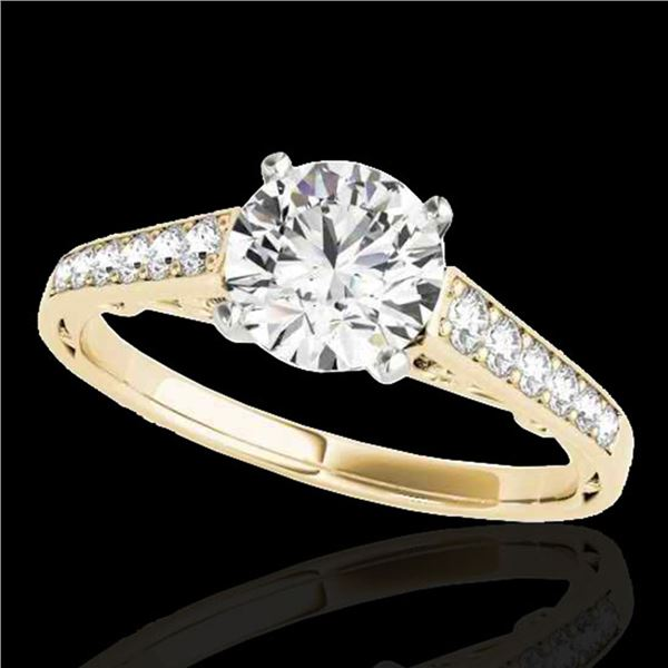 1.35 ctw Certified Diamond Solitaire Ring 10k Yellow Gold - REF-177R3K