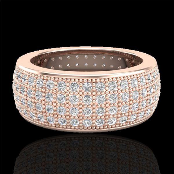 2.50 ctw Micro Pave VS/SI Diamond ERERNITY Ring .5 14k Rose Gold - REF-249W3H