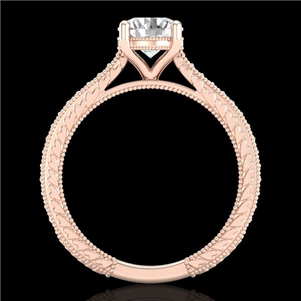 1.45 ctw VS/SI Diamond Solitaire Art Deco Ring 18k Rose Gold - REF-400H2R