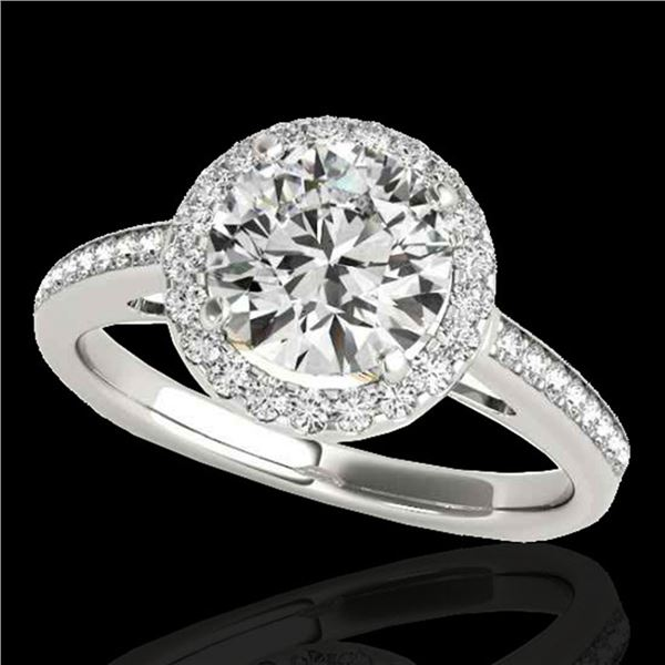 1.3 ctw Certified Diamond Solitaire Halo Ring 10k 2Tone Gold - REF-184Y8X