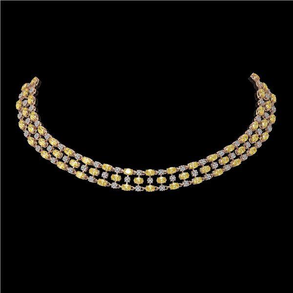 30.83 ctw Fancy Citrine & Diamond Necklace 10K Rose Gold - REF-427H3R