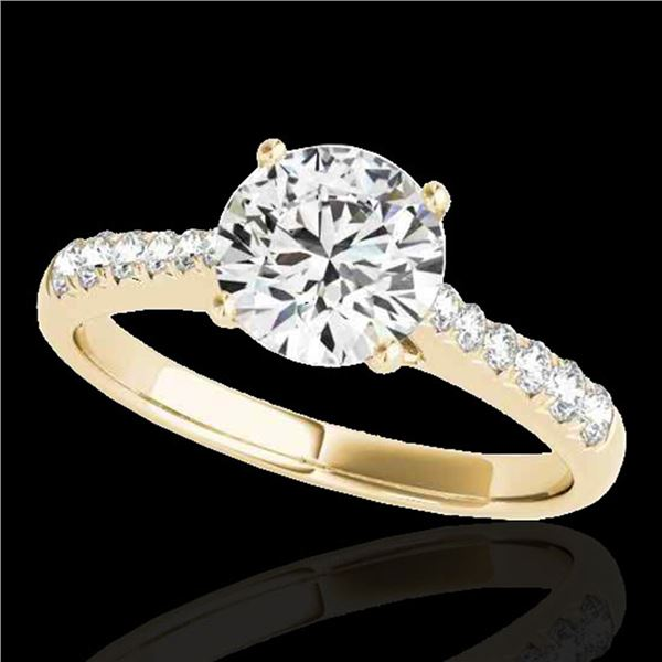 1.25 ctw Certified Diamond Solitaire Ring 10k Yellow Gold - REF-190N9F