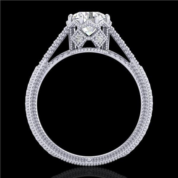 1.25 ctw VS/SI Diamond Art Deco Ring 18k White Gold - REF-330A2N