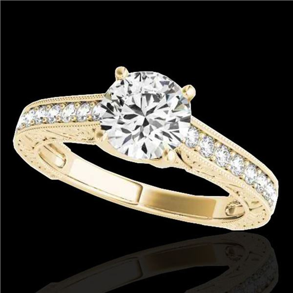 1.32 ctw Certified Diamond Solitaire Ring 10k Yellow Gold - REF-184Y3X