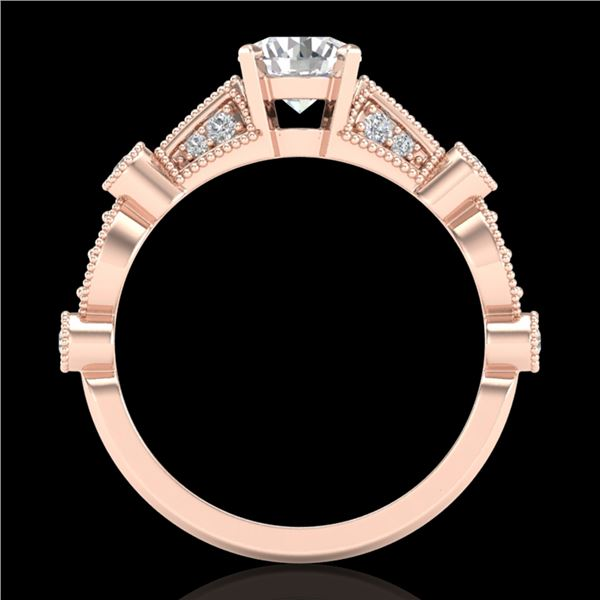 1.03 ctw VS/SI Diamond Solitaire Art Deco Ring 18k Rose Gold - REF-203A6N