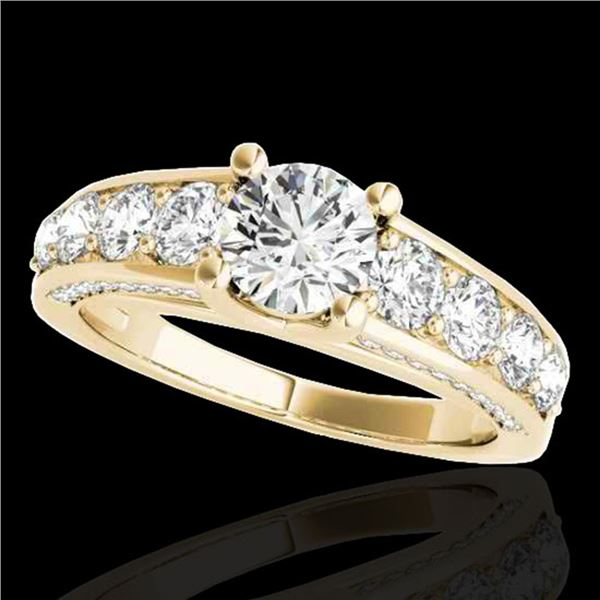 2.55 ctw Certified Diamond Solitaire Ring 10k Yellow Gold - REF-259W3H