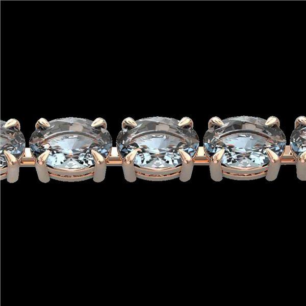20 ctw Aquamarine Eternity Designer Bracelet 14k Rose Gold - REF-178Y2X