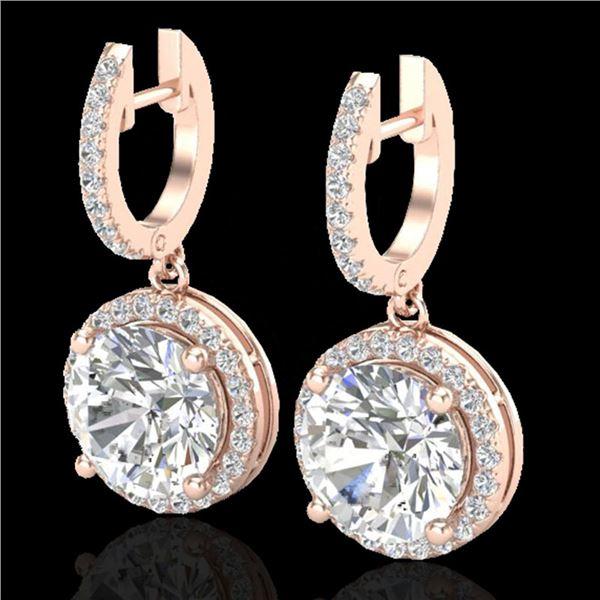 4.50 ctw Micro Pave VS/SI Diamond Certified Designer 14k Rose Gold - REF-1681F4M