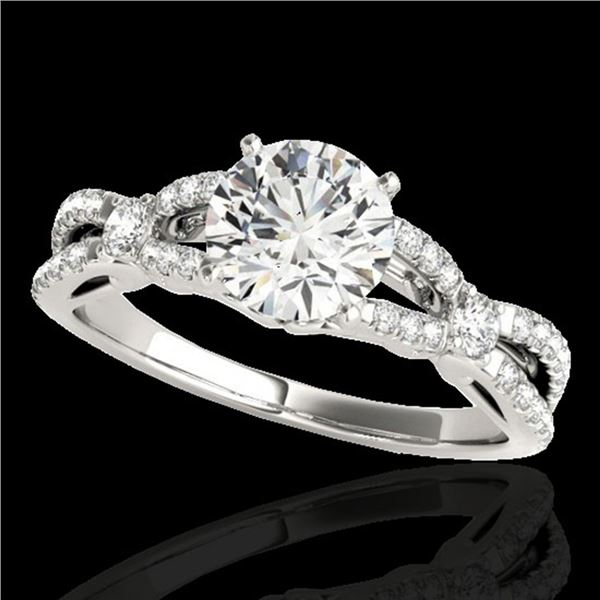 1.35 ctw Certified Diamond Solitaire Ring 10k White Gold - REF-190Y9X