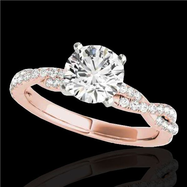 1.25 ctw Certified Diamond Solitaire Ring 10k Rose Gold - REF-190W9H