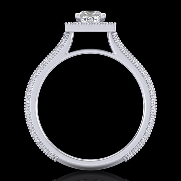 1.41 ctw Princess VS/SI Diamond Micro Pave Ring 18k White Gold - REF-200F2M