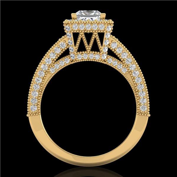 3.5 ctw Princess VS/SI Diamond Micro Pave Ring 18k Yellow Gold - REF-581H8R