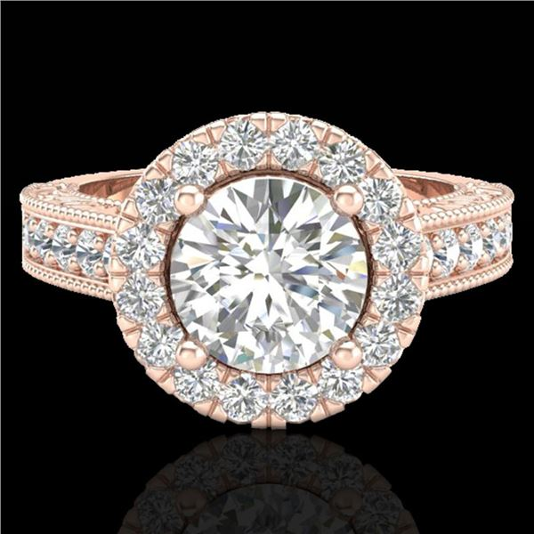 2.25 ctw Vintage VS/SI Diamond Engagment Ring 7 14k Rose Gold - REF-541X8A