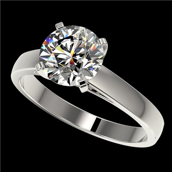 2.05 ctw Certified Quality Diamond Engagment Ring 10k White Gold - REF-439F3M