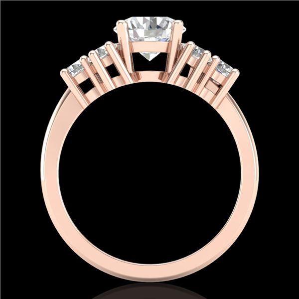 2.1 ctw VS/SI Diamond Solitaire Ring 18k Rose Gold - REF-465K2Y