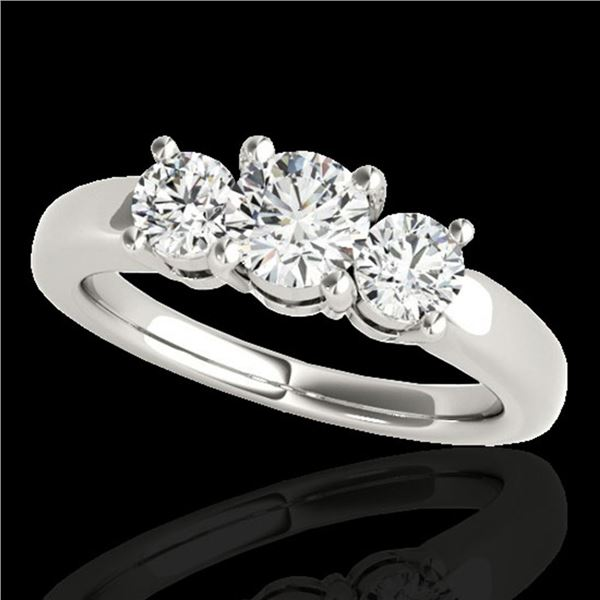 2 ctw Certified Diamond 3 Stone Solitaire Set 10k White Gold - REF-218H2R
