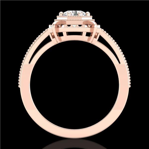 0.53 ctw VS/SI Diamond Solitaire Art Deco Ring 18k Rose Gold - REF-136K4Y