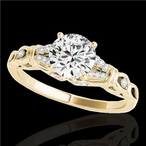 1.2 ctw Certified Diamond Solitaire Ring 10k Yellow Gold - REF-188W2H