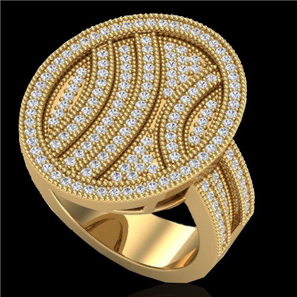 1.25 ctw Micro Pave VS/SI Diamond Ring 14k Yellow Gold - REF-135K5Y