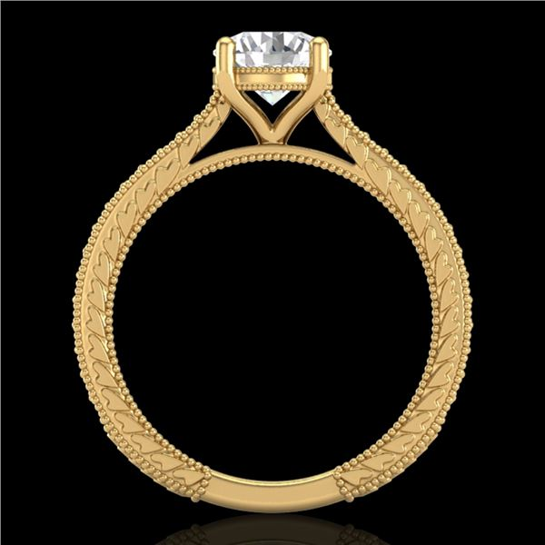 1.45 ctw VS/SI Diamond Art Deco Ring 18k Yellow Gold - REF-400Y2X