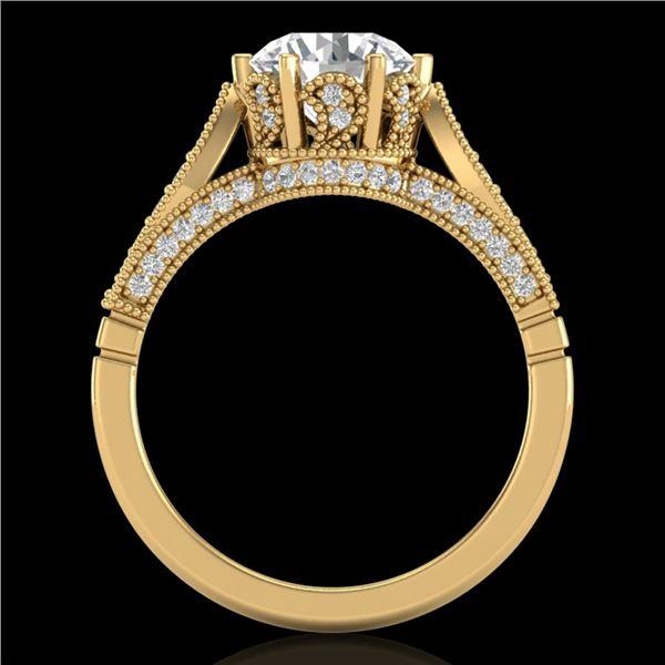 2.2 ctw VS/SI Diamond Art Deco Ring 18k Yellow Gold - REF-725X5A