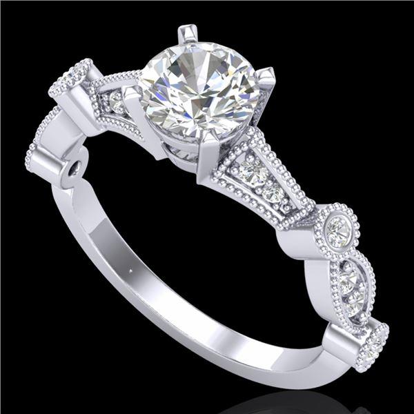 1.03 ctw VS/SI Diamond Art Deco Ring 18k White Gold - REF-203W6H