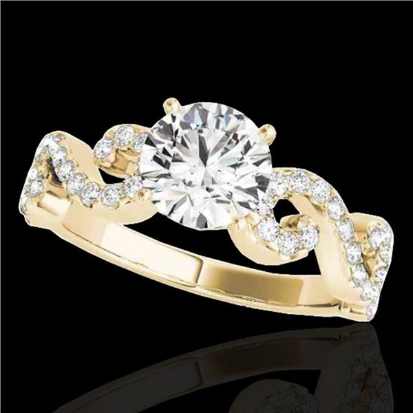 1.4 ctw Certified Diamond Solitaire Ring 10k Yellow Gold - REF-190W9H
