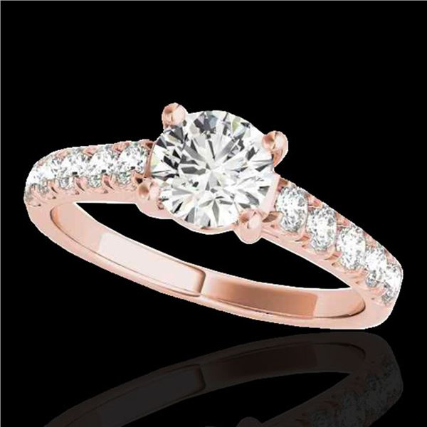 1.55 ctw Certified Diamond Solitaire Ring 10k Rose Gold - REF-245H5R