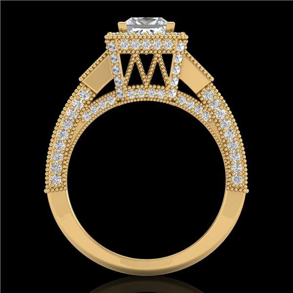 3.53 ctw Princess VS/SI Diamond Micro Pave 3 Stone Ring 18k Yellow Gold - REF-540F9M