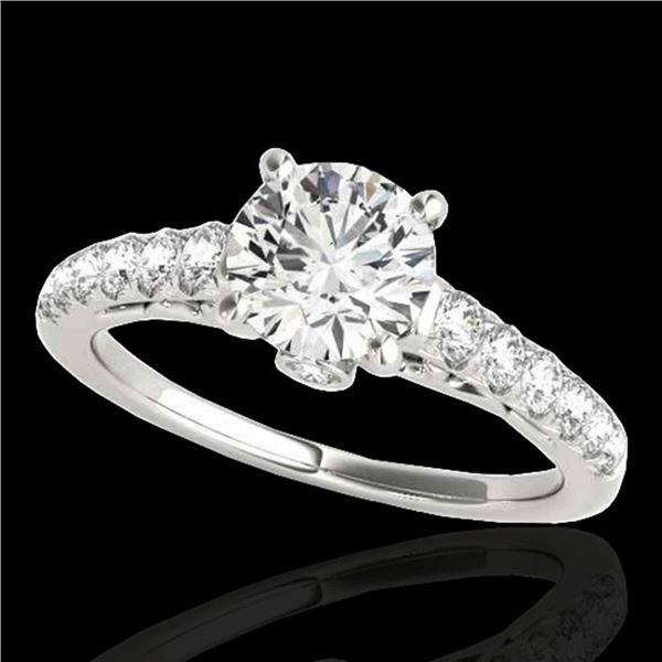 1.5 ctw Certified Diamond Solitaire Ring 10k White Gold - REF-197G8W