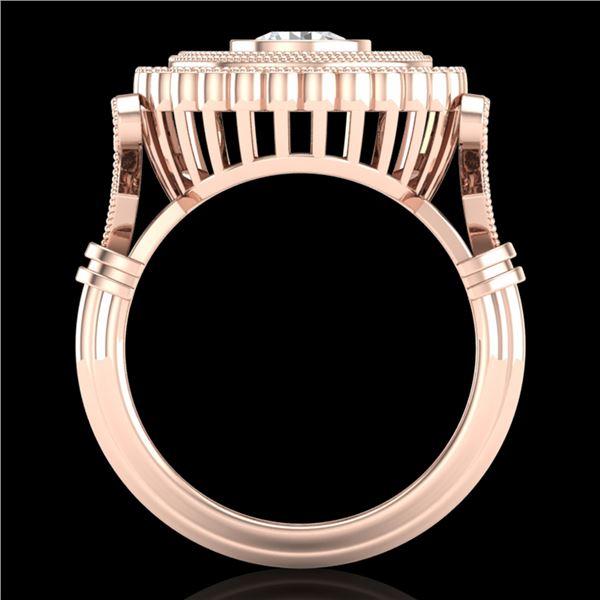 2.03 ctw VS/SI Diamond Solitaire Art Deco Ring 18k Rose Gold - REF-270G2W