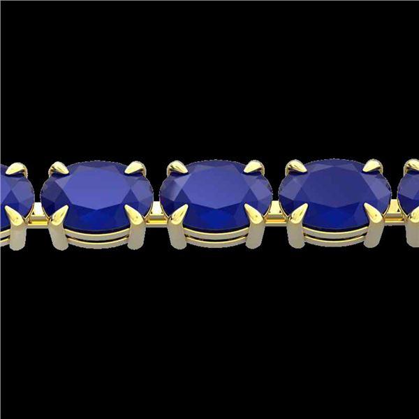 29 ctw Sapphire Eternity Designer Bracelet 14k Yellow Gold - REF-137N5F